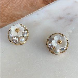 BOGO! Flower Pearl Studs